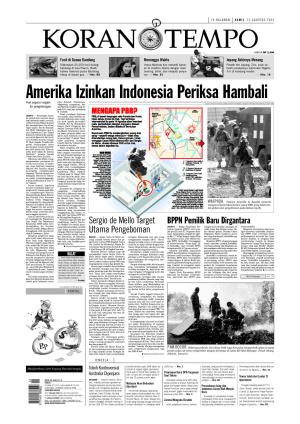 Amerika Izinkan Indonesia Periksa Hambali