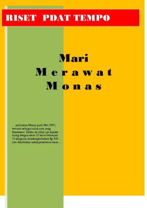 Perawatan Monas