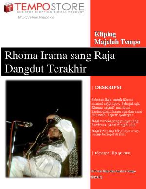 Rhoma Irama sang Raja Dangdut Terakhir