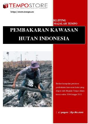 Pembakaran Kawasan Hutan Indonesia