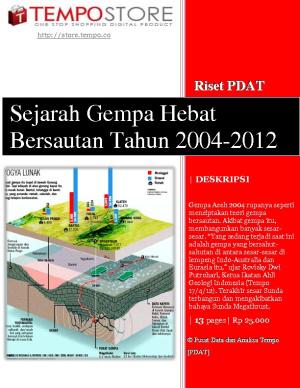 Sejarah Gempa Hebat Bersautan 2004-2012