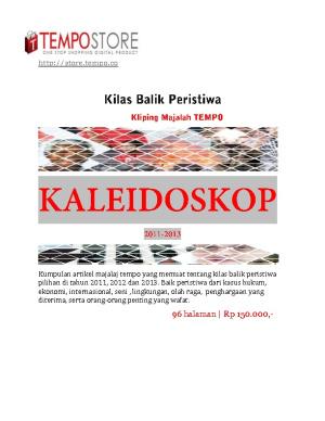 Kaleidoskop Tempo 2011-2013