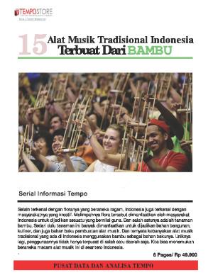 15 Alat Musik Tradisional Indonesia Terbuat Dari Bambu