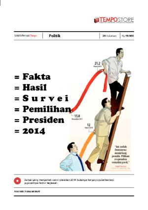 Fakta Hasil Survei Jokowi Prabowo Pada Pemilihan Presiden 2014
