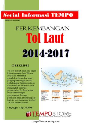 Perkembangan Tol Laut 2014-2017