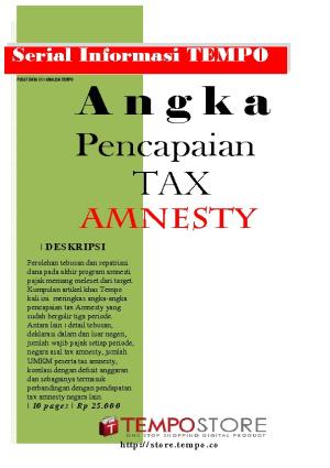 Angka Pencapaian Tax Amnesty